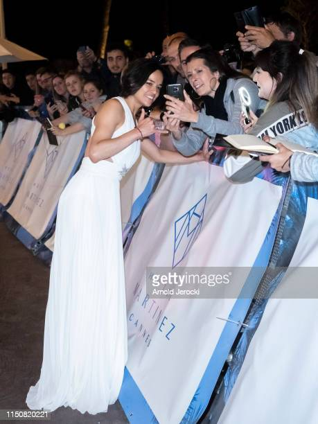 Michelle Rodriguez is seen at the hotel Martinez during the 72nd annual Cannes Film Festival on May 21 2019 in Cannes France