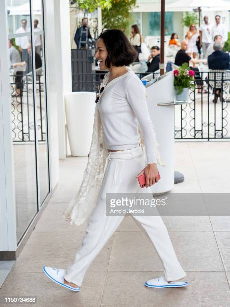 Michelle Rodriguez is seen at the Martinez hotel during the 72nd annual Cannes Film Festival on May 21 2019 in Cannes France
