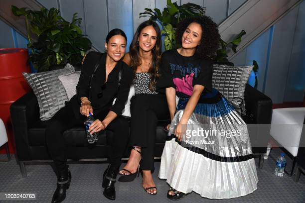 Michelle Rodriguez Jordana Brewster and Nathalie Emmanuel attend Universal Pictures Presents The Road To F9 Concert and Trailer Drop on January 31...