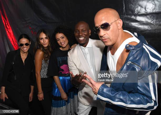Michelle Rodriguez, Jordana Brewster, Nathalie Emmanuel, Tyrese Gibson and Vin Diesel attend Universal Pictures Presents The Road To F9 Concert and...
