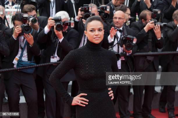 Michelle Rodriguez lors de la première du film 'La glace et le ciel' et de la cérémonie de clôture du 68eme Festival du Film Annuel au Palais des...