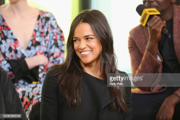 """Michelle Rodriguez of 'Widows"""" attends The IMDb Studio presented By Land Rover At The 2018 Toronto International Film Festival at Bisha Hotel &..."""