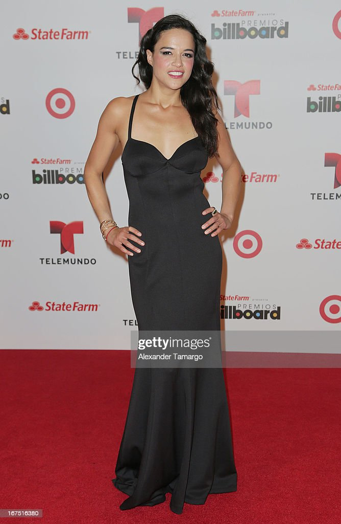 Michelle Rodriguez poses backstage at Billboard Latin Music Awards 2013 at Bank United Center on April 25, 2013 in Miami, Florida.