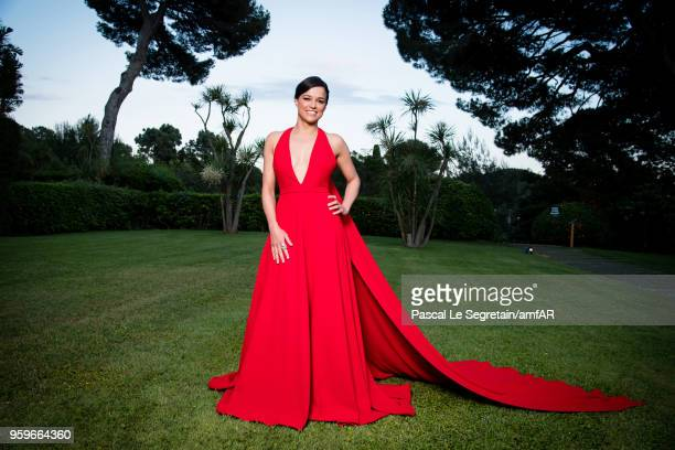 Michelle Rodriguez poses for portraits at the amfAR Gala Cannes 2018 cocktail at Hotel du CapEdenRoc on May 17 2018 in Cap d'Antibes France