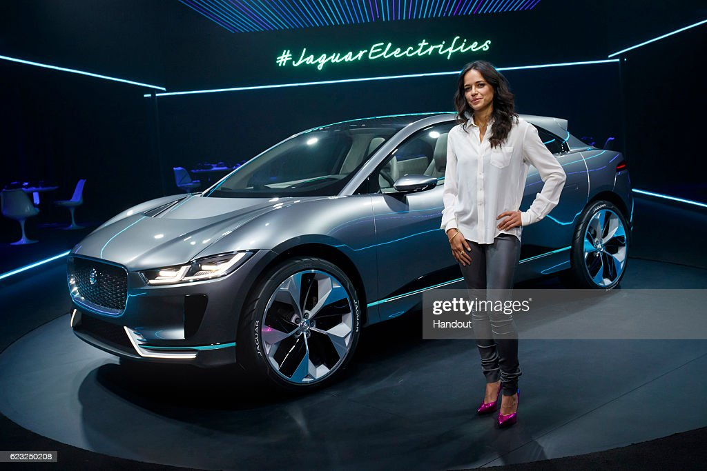 Michelle Rodriguez with the Jaguar I-PACE Concept at Milk Studios on November 14, 2016 in Los Angeles, California.