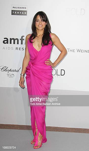 Michelle Rodriquez attends the amfAR Cinema Against AIDS 2010 at the Hotel du Cap during the 63rd Annual Cannes Film Festival on May 20 2010 in...