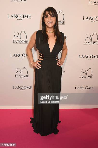 Michelle Rodriquez attends the photocall for the Lancome Celebrates 80 Years of Beauty With All Its Ambassadresses on July 7 2015 in Paris France
