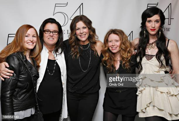 Michelle Rounds actress/ comedian Rosie O'Donnell actress Natasha Lyonne and actress/ filmmaker Sarah Sophie Flicker pose with actress/ singer Rita...