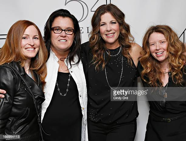Michelle Rounds actress/ comedian Rosie O'Donnell and actress Natasha Lyonne pose with actress/ singer Rita Wilson backstage following her...