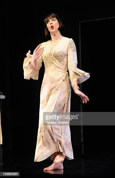 Michelle Ryan as Sally Bowles performs during a photocall for 'Cabaret' at The Savoy Theatre on October 8 2012 in London England
