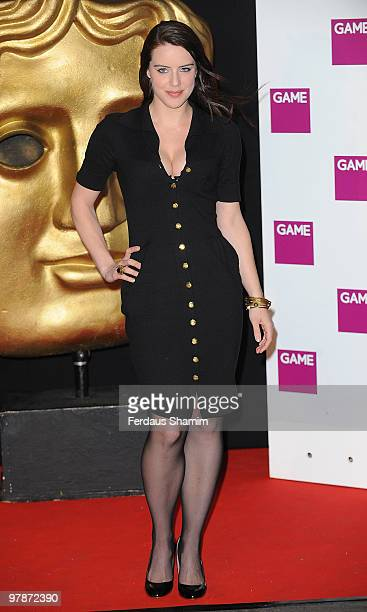 Michelle Ryan attends the BAFTA Video Games Awards at London Hilton on March 19 2010 in London England