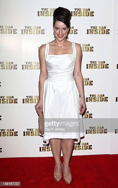 Michelle Ryan attends the premiere of 'The Man Inside' at Vue Leicester Square on July 24 2012 in London England