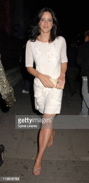 Michelle Ryan during Royal Academy Summer Exhibition 2007 VIP Private View Departures at Royal Academy in London Great Britain