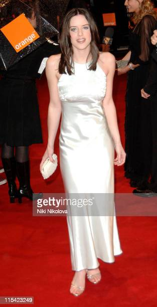 Michelle Ryan during The Orange British Academy Film Awards 2006 Arrivals at Odeon Leicester Square in London Great Britain