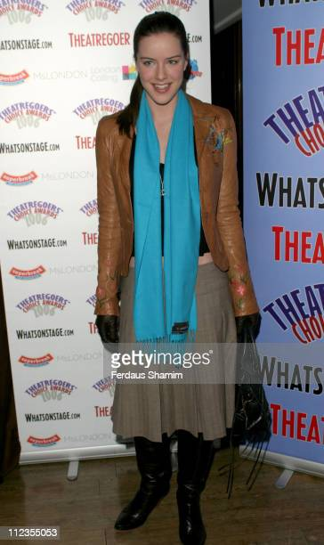 Michelle Ryan during Theatregoers' Choice Awards 2006 at Planet Hollywood in London Great Britain