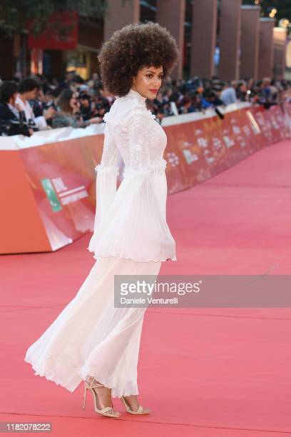 Michelle Sampaio walks a red carpet during the 14th Rome Film Festival on October 19, 2019 in Rome, Italy.