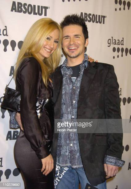 Michelle Scott and Hal Sparks during 16th Annual GLAAD Media Awards at Marriott Marquis Hotel in New York City, New York, United States.
