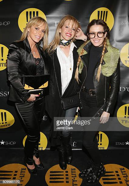 Michelle Seelinger Dina Manzo and Lexi Manzo attend the TYLITE Launch Party at Wallplay Gallery on February 12 2016 in New York City