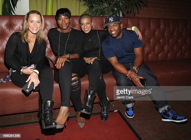 Michelle SerafinSeelinger Ursula Stephen Dana Johnson and Chef J Maxwell attends the 5th Annual CC Challenge kickoff reception rules party at Bowlmor...