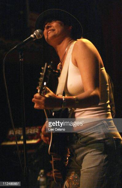 Michelle Shocked during Doc Holiday's Watusi Rodeo First Anniversary Show at the King King at King King in Hollywood California United States