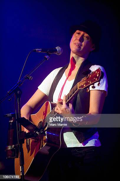 Michelle Shocked performs on stage at Queens Hall on November 2 2010 in Edinburgh Scotland
