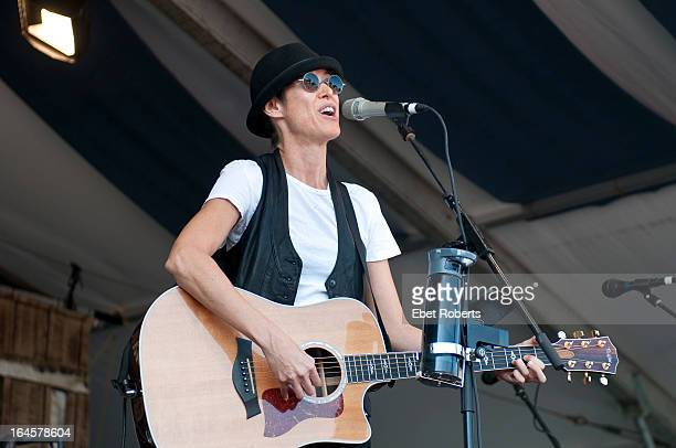 Michelle Shocked performs on stage at the New Orleans Jazz and Heritage Festival in New Orleans Louisiana on 5th May 2011