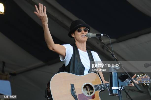 Michelle Shocked performs on stage during the first day of New Orleans Jazz And Heritage Festival on May 5 2011 in New Orleans United States