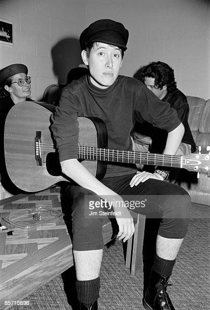 Michelle Shocked poses for a photo backstage during a performance in Minneapolis Minnesota in 1989