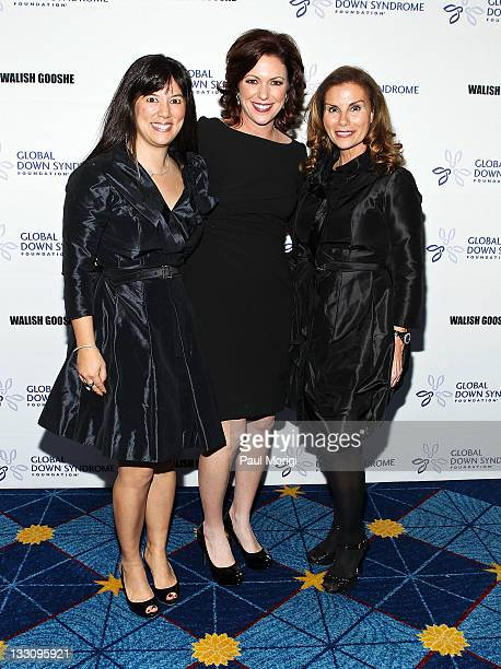 Michelle Sie Whitten executive director of the Global Down Syndrome Foundation CNN anchor Kyra Phillips and Lynda Erkiletian of THE Artist Agency and...