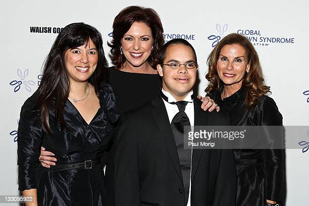 Michelle Sie Whitten executive director of the Global Down Syndrome Foundation CNN anchor Kyra Phillips Alex Sessions and Lynda Erkiletian of THE...