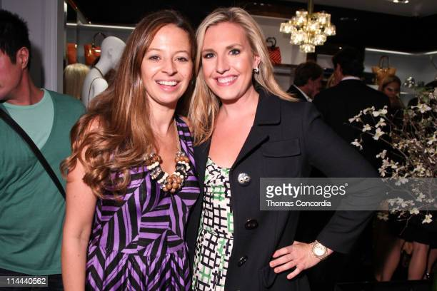 Michelle Smith and Poppy Harlow attend the opening of the Milly Madison Avenue boutique on May 19 2011 in New York City