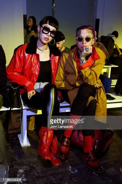 Michelle Song and Chris Lavish attend Dirty Pineapple front row during New York Fashion Week The Shows on February 09 2019 in New York City