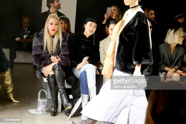 Michelle Song attends the Blancore fashion show during February 2020 New York Fashion Week The Shows at Gallery II at Spring Studios on February 07...