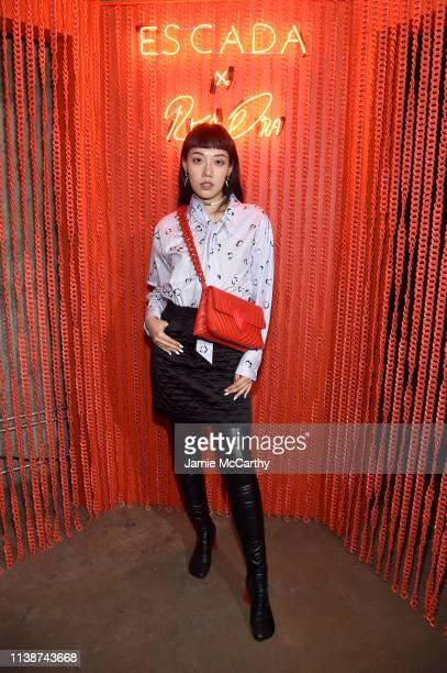 Michelle Song attends the launch of the ESCADA Heartbag by Rita Ora on March 27 2019 in New York City