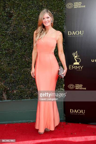 Michelle Stafford attends the 45th annual Daytime Emmy Awards at Pasadena Civic Auditorium on April 29 2018 in Pasadena California