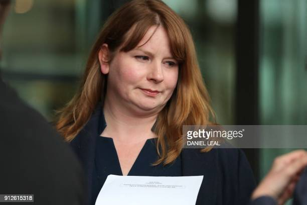 Michelle Stanistreet head of the National Union of Journalists arrives at Portcullis house in London for a hearing into the BBC's gender pay gap /...