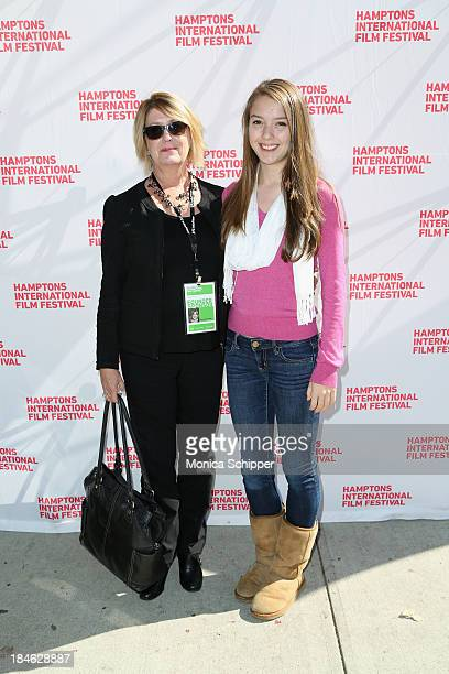 Michelle Stark and Isabelle stark attend the 21st Annual Hamptons International Film Festival Closing Day on October 14, 2013 in East Hampton, New...