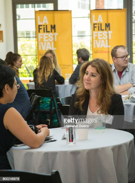 Michelle Sy Fast Track Fellow and Allison Friedman attend Fast Track Session during the 2017 Los Angeles Film Festival on June 21 2017 in Culver City...