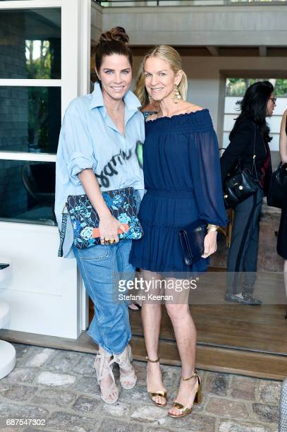 Michelle Tardis and Crystal Lourd attend Women's Cancer Research Fund Taschen Celebrate 'David Hockney A Bigger Book' Collaboration on May 23 2017 in...