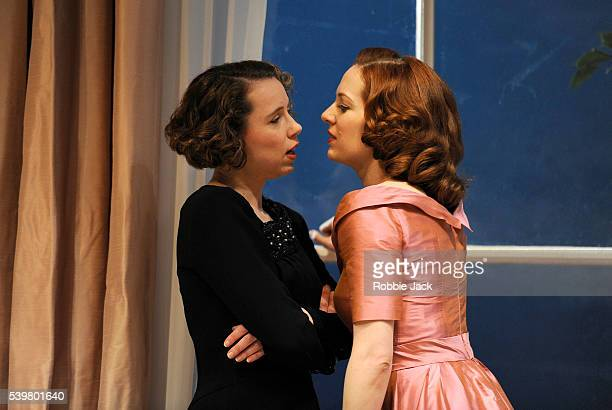 Michelle Terry as Kathleen Skinner and Katherine Parkinson as Laura Whittingham in Rodney Ackland's Before the Party directed by Matthew Dunster at...