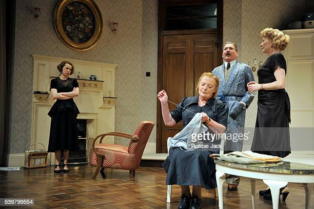 Michelle Terry as Kathleen Skinner June Watson as Nanny Michael Thomas as Aubrey Skinner and Stella Gonet as Blanche Skinner in Rodney Ackland's...