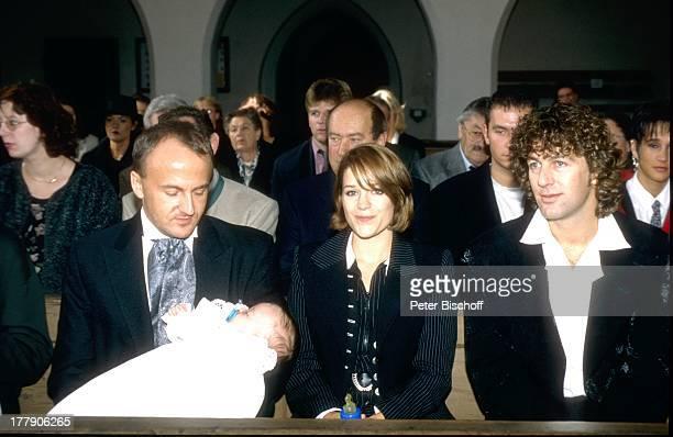 Michelle , Tochter Celine, Ehemann Albert Oberloher , Taufe von Tochter, Kirchdorf, Deutschland, Europa, Kirche, Baby, Familie, Ehefrau,...