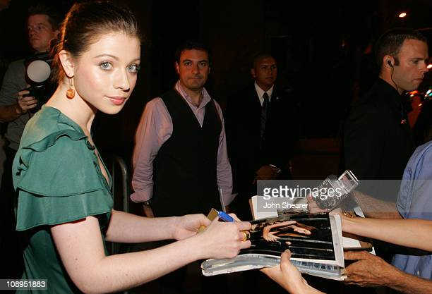 Michelle Trachtenberg and fans during Teen Vogue Young Hollywood Party - Red Carpet at Sunset Tower Hotel in Hollywood, California, United States.