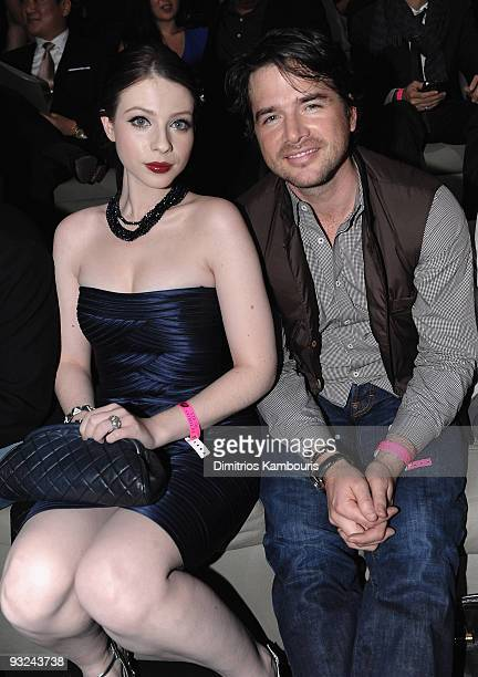 Michelle Trachtenberg and Matthew Settle attend the 2009 Victoria's Secret fashion show at The Armory on November 19 2009 in New York City