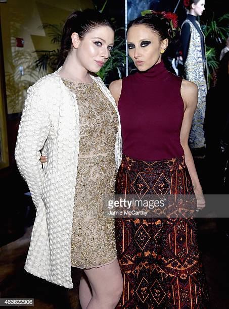 Michelle Trachtenberg and Stacey Bendet attend the Alice Olivia presentation during MercedesBenz Fashion Week Fall 2015 on February 16 2015 in New...