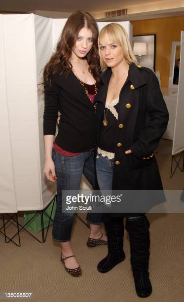 Michelle Trachtenberg and Taryn Manning during Glamour Magazine Presents Biolage Golden Globe Style Lounge Day 1 at L' Ermitage in Beverly Hills CA...