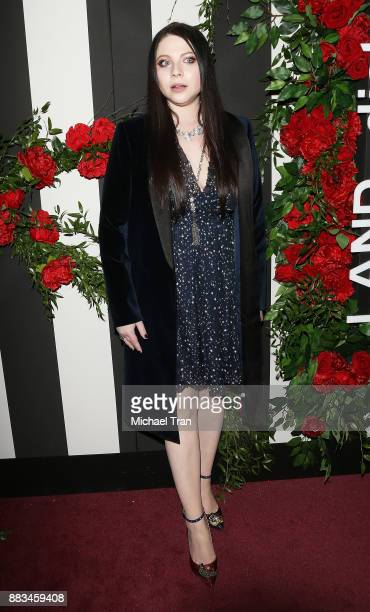 Michelle Trachtenberg arrives at the LAND of distraction launch event held at Chateau Marmont on November 30 2017 in Los Angeles California