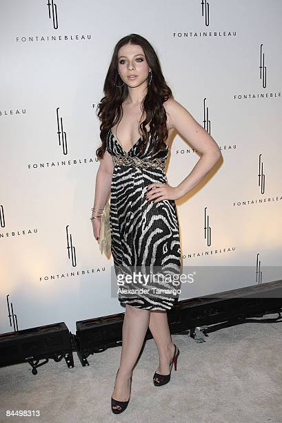 Michelle Trachtenberg arrives for the grand opening of Fontainebleau Miami Beach on November 14 2008 in Miami Beach Florida