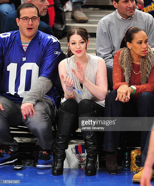 Michelle Trachtenberg attend the Denver Nuggets vs New York Knicks game at Madison Square Garden on January 21 2012 in New York City