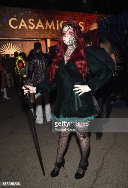Michelle Trachtenberg attends Casamigos Halloween Party on October 27 2017 in Los Angeles California